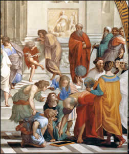 The School of Athens: Mathematicians and cosmologists